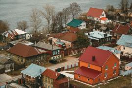 фото город Шуя, Ивановская область, река Теза, дом Бальмонта