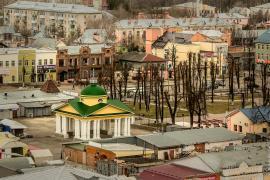 фото город Шуя, Ивановская область, торговые весы, литературный сквер