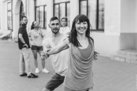 Парные танцы. Шуя. Танцы на улице после турнира по ХАСТЛУ